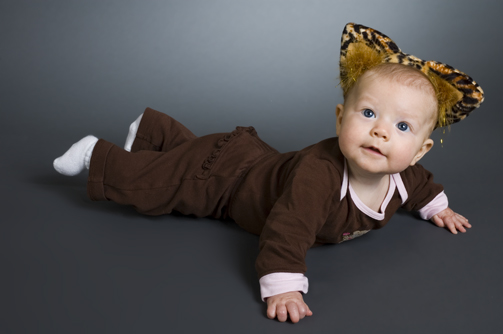 baby in a kitty costume